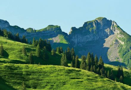 Wall mural wallpaper Premium Swiss Mountains Gstaad